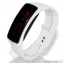 Đồng hồ kèm vòng tay silicon có chỉnh cỡ tay
