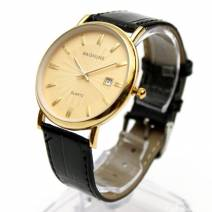 Đồng hồ nam dây da baishuns hiển thị ngày