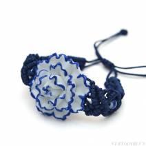 Vòng tay hoa  sứ màu xanh tím ( nhiều kiểu )