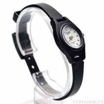 Đồng hồ nữ QPone ( mặt trắng , dây đen)