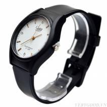 Đồng hồ nam QPone ( mặt trắng , dây đen)
