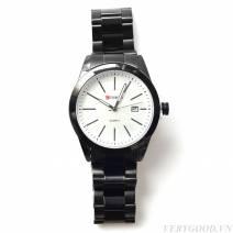 Đồng hồ Curren dây thép mặt trắng , có lịch hiển thị ngày