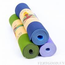 Thảm Tập Yoga TPE 2 Lớp Kèm Túi Đựng