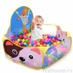 Nhà bóng trẻ em cho bé mini hình hươu cao cổ kèm 20 bóng