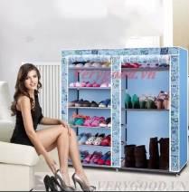Tủ vải để giày dép 9 ngăn họa tiết 2016 giá rẻ