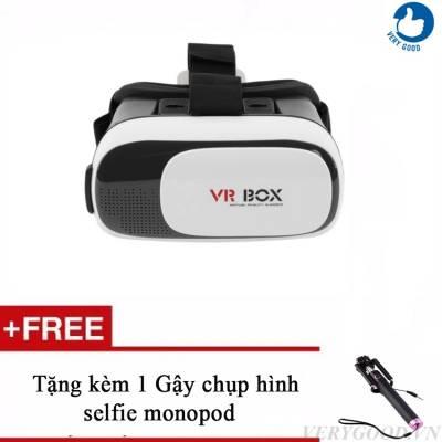 Kính thực tế VR Box Version 2 + 1 gậy chụp hình selfie monopod]