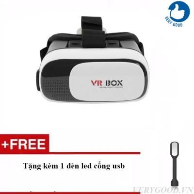 Kính thức tế  VR Box Version 2 + tặng kèm 1 đèn led USB dùng cho laptop]