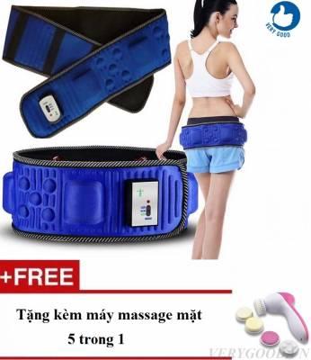 Đai massage X5 tặng kèm máy massage mặt 5 in 1]