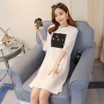 Váy Cotton Nữ In Chữ