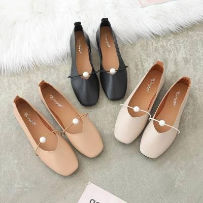 Giày bệt da nữ êm chân -GCG10]