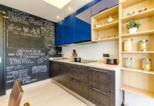 Mẫu tủ bếp 2 mùa phong cách