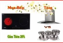 Mua Bếp Điện Từ Tặng Máy Hút Mùi 2016