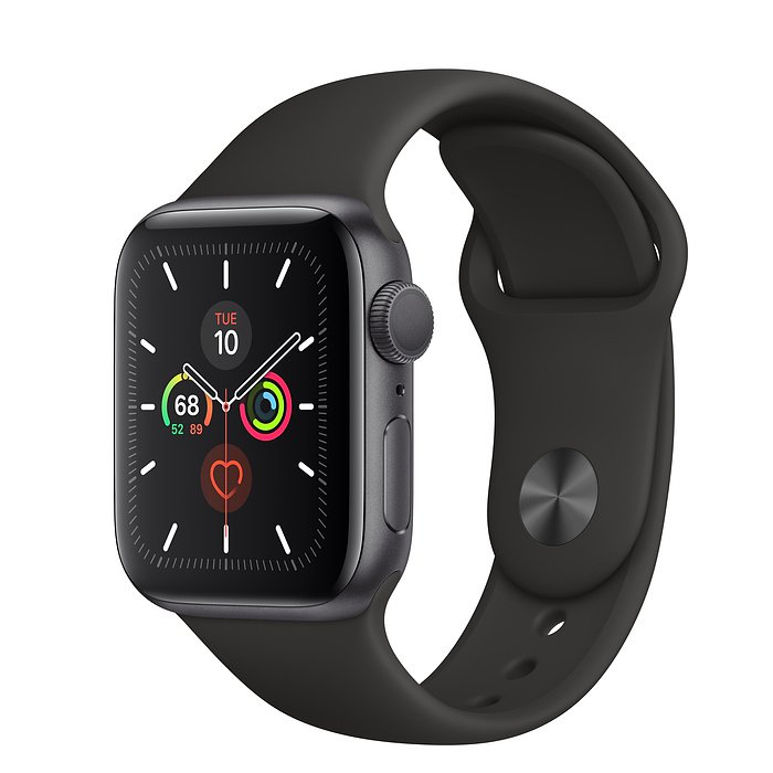 Apple Watch Series 5 GPS 44mm - MWVF2 (Space Gray Aluminum Case with Black Sport Band)