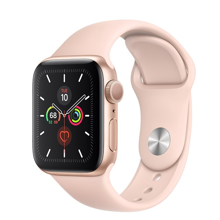 Apple Watch Series 5 GPS 40mm - MWV72 (Gold Aluminum Case with Pink Sand Sport Band)