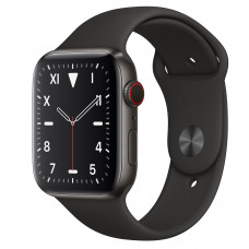 Apple Watch Series 5 LTE 44MM - MWR52 (Space Black Titanium, Space Black Sport Band)