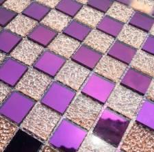 Gạch mosaic Tím hồng trà cao cấp