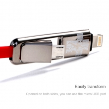 Cáp USB Remax transformer data line 2 trong 1