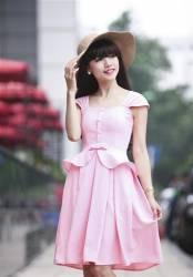 Váy vintage xòe 2 tầng