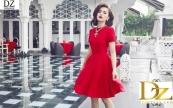 Váy xòe đỏ