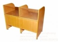 Bàn ghế máy vi tính gỗ ép công nghiệp 03