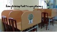 Bàn ghế máy vi tính khung sắt gỗ ép công nghiệp 02