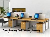 Bàn ghế máy vi tính khung sắt gỗ ép công nghiệp 04