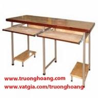 Bàn ghế máy vi tính khung sắt gỗ ép công nghiệp 07