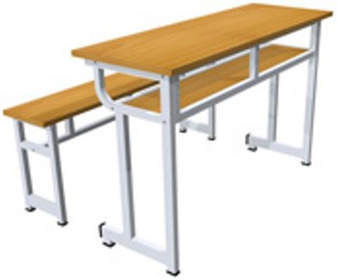 Bàn ghế học sinh 3 chỗ ngồi 07
