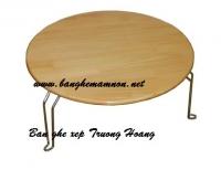 Bàn ghế đa năng gỗ chân sắt hcm 04
