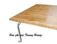 Bàn ghế đa năng gỗ chân sắt hcm 05