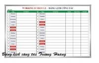 Báo giá bảng lịch công tác tuần cho các cơ quan xí nghiệp