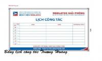 Bảng ghi lịch công tác giá rẻ chỉ có ở Trương Hoàng JSC