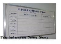 Thiết kế mẫu bảng lịch công tác giá rẻ cho các ủy ban văn phòng bệnh viện