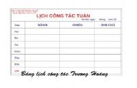 Giá bảng lịch công tác foocmica trắng rẻ nhất tại tphcm,hcm,hà nội
