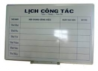 Bán bảng lịch công tác bằng kính ở văn phòng
