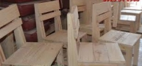 ghế cà phê bằng gỗ