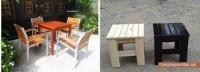 bàn ghế gỗ cho quán cà phê