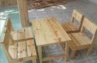 Bàn ghế gỗ bán café
