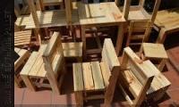 ghế gỗ cà phê