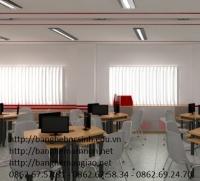 Bàn lab học sinh khung sắt,gỗ công nghiệp 11