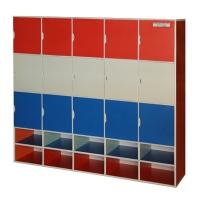 Kệ tủ mầm non đựng đồ cá nhân nhiều ngăn TH-KCNNN04  (15 ngăn160x35x140cm)