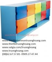 Kệ tủ mầm non đựng đồ cá nhân nhiều ngăn TH-KCNNN05
