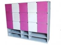 Kệ tủ mầm non đựng đồ cá nhân nhiều ngăn TH-KCNNN08 (15 ô có giá giày dép)