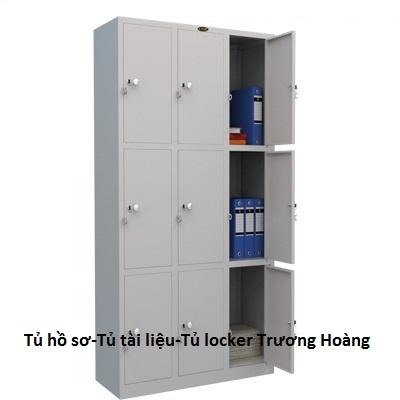 Tủ Sắt - Tủ Hồ Sơ tại CH Nội Thất Trương Hooàng TP.HCM (locker 9 ô)