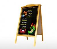 Bảng viết menu khung gỗ kích thước 700 x 1000 mm
