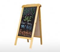 Bảng viết menu khung gỗ kích thước 600 x 1200 mm