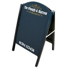 Bảng menu nhà hàng khung gỗ kích thước 450 x 800 mm