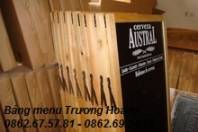 Bảng menu đứng khung gỗ kích thước 450 x 800 mm