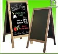 Bảng menu đứng 2 mặt khung gỗ kích thước 600 x 1200 mm