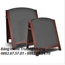 Bảng menu gỗ 2 mặt khung gỗ chân xếp gọn kích thước 450 x 800 mm